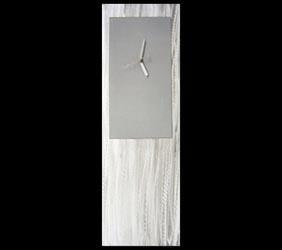 SILVER METAL CLOCK - Contemporary Decor by Nicholas Yust