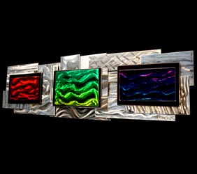 SPECTRAL ABSORPTION - Layered Metal Art by Nicholas Yust
