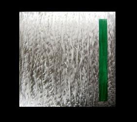 TENSION GREEN - Original Metal Painting by Nicholas Yust