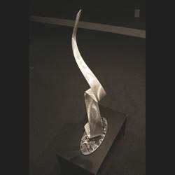 A LADYS SILHOUETTE - Silver Metal Sculpture by Nicholas Yust