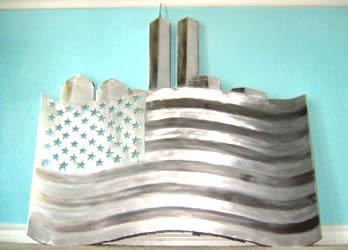AMERICA THE BEAUTIFUL - Hand-Ground Metal Art by Nicholas Yust