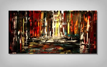 AS THE RUSH COMES - Abstract Metal Painting by Nicholas Yust