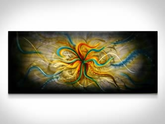 BIRTH OF A STAR - Abstract Metal Painting by Nicholas Yust