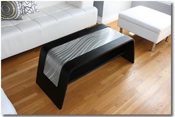 BLACK WAVE COFFEE TABLE - Wood & Metal Furniture by Nicholas Yust