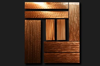 BLOCKED IN - Copper Panels by Nicholas Yust