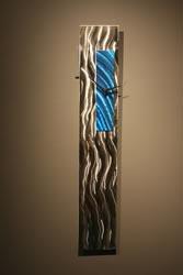 BLUE TRIM CLOCK - Contemporary Decor by Nicholas Yust