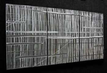 CRYSTALLIZED LARGE - Hand-Ground Metal Art by Nicholas Yust