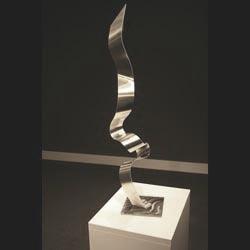 DANCING COBRA - Silver Metal Sculpture by Nicholas Yust
