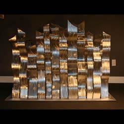 DANCING SILVERS - Silver Metal Sculpture by Nicholas Yust