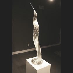 DISTORTED RULER - Silver Metal Sculpture by Nicholas Yust