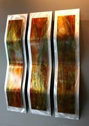 HARVEST 3-PANEL - Original Metal Painting by Nicholas Yust