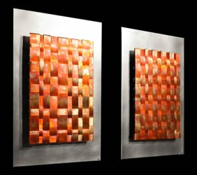 INFUSION DOUBLE - Torch-Colored Metal Art by Nicholas Yust