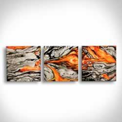 LAVA FLOW V2 - Dip-Painted Metal Art by Nicholas Yust