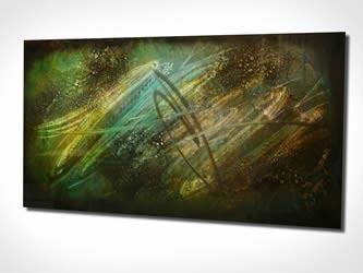 LOST IN SPACE - Original Metal Painting by Nicholas Yust