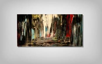 NIGHT WALK - Abstract Metal Painting by Nicholas Yust