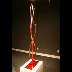 SCARLET TRIFECTA - Painted Metal Sculpture by Nicholas Yust