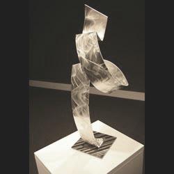 SILVER SMOKE - Silver Metal Sculpture by Nicholas Yust