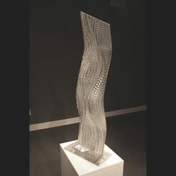 SILVER TRENCH - Silver Metal Sculpture by Nicholas Yust