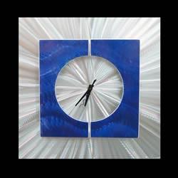 SPLICE CLOCK BLUE - Contemporary Decor by Nicholas Yust