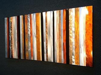 STRIATIONS - Multi-Metal Strips Art by Nicholas Yust