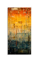 SUNRISE - Abstract Metal Painting by Nicholas Yust
