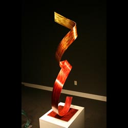 TRES FLAME - Painted Metal Sculpture by Nicholas Yust