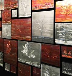WARM LANDSCAPE COLLAGE - Metal Tree Art by Nicholas Yust