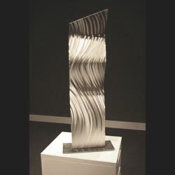 WATER SLIDE - Silver Metal Sculpture by Nicholas Yust
