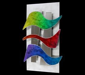 WAVELENGTHS - Abstract Metal Art by Nicholas Yust