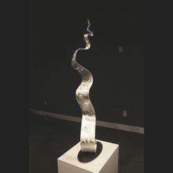 WAVY METAL - Silver Metal Sculpture by Nicholas Yust