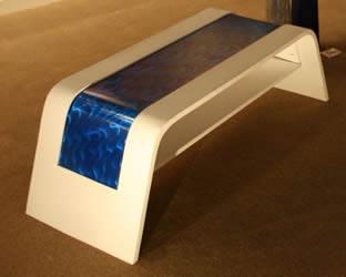 WHITE WAVE COFFEE TABLE - Wood & Metal Furniture by Nicholas Yust