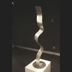WINDING ROAD - Silver Metal Sculpture by Nicholas Yust