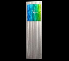 COBALT/EMERALD/YELLOW VIBE CLOCK (56% OFF!) - Contemporary Decor by Nicholas Yust