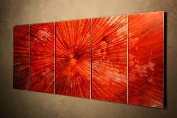 TANTALUM GRAFFITI RED - Original Metal Painting by Nicholas Yust