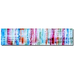 Bright Spectrum : Colorful Rainbow Coastal Metal Art by Nicholas Yust
