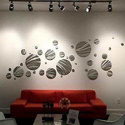 FLY AWAY : Huge Contemporary Circles Metal Wall Display